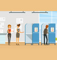 voting and election campaign voters casting vector image