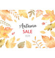 watercolor autumn banner sales isolated on vector image vector image