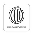 watermelon icon outline flat sign isolated white vector image vector image