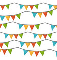 White background with set of colorful festoons in