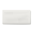 White DL envelope isolated vector image vector image