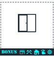 Window icon flat vector image vector image