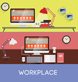 Workplace design vector image vector image