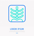 x-ray image of human spine thin line icon vector image