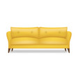 yellow sofa isolated white background vector image vector image