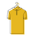 yellow watercolor silhouette of polo shirt short vector image vector image