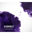 abstract ultraviolet purple grunge splash on white vector image