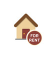 real estate services house for rent sign vector image