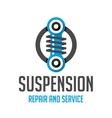 Suspension template logo vector image