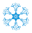 snowflake isolated on white vector image