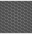 3d monochromatic honeycomb pattern background vector image