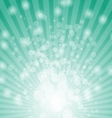 Abstract bokeh on green background vector image vector image