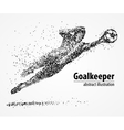 abstract football goalkeeper athlete vector image