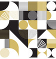 abstract golden circle seamless pattern vector image