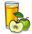 apple juice glass vector image vector image