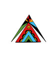 art tattoo picture triangle vector image