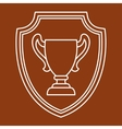 Award cup sport or business background in line vector image