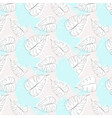 blue grey pattern with banana palm leaves vector image vector image