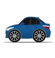 blue sport car vector image vector image