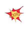 boom lettering comic sound speech effect bubble vector image