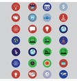 business icons in flat design vector image