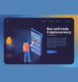 buy and trade cryptocurrency vector image