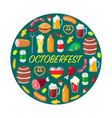 card for october beer festival vector image vector image