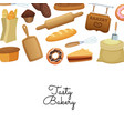 cartoon bakery background web vector image vector image