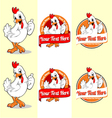 chicken mascot vector image