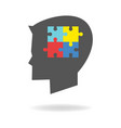 children with autism icon vector image vector image