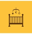 Childrens bed icon Baby bed design Cradle and vector image vector image