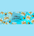christmas banner holiday horizontal background vector image vector image