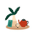 christmas breakfast and tea vector image
