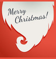 christmas greeting card beard santa claus on a vector image vector image
