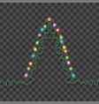 christmas tree formed garland bright lights vector image