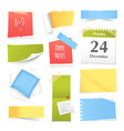 Colorful Realistic Paper Notes Collection vector image vector image