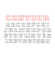 Contour serif font and numerals vector image vector image