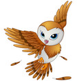 cute owl cartoon flying vector image vector image