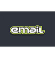email word text logo design green blue white vector image