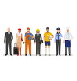 employee and workers characters standing together vector image