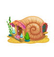 fairy snail shell house or dwelling sorceress vector image vector image