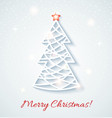 Festive card with Christmas tree vector image vector image
