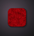 Fluffy texture icon stylized like mobile app vector image