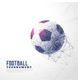 football made with particle dots and wire mesh vector image vector image