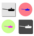 frying pan flat icon vector image