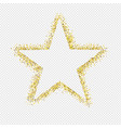 glitter star isolated transparent background vector image vector image