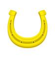 golden horseshoe for good luck vector image