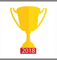 golden trophy award vector image vector image