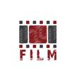 grunge film tape design template vector image