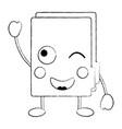happy file folder kawaii icon image vector image